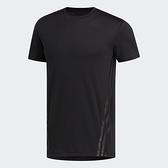 Adidas AEROREADY 男款黑色透氣訓練短袖上衣-NO.FL4309