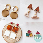耳環 時尚多元素焦糖色系耳環 A3011