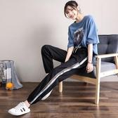 冰絲休閒運動褲子 女夏季2020新款寬鬆速干顯瘦束腳薄款百搭休閒哈倫褲 JX2498『bad boy時尚』