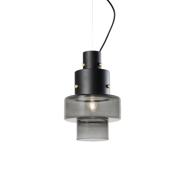 義大利 Diesel x Foscarini Gask Suspension Lamp 層次美學 立塔造型 玻璃 吊燈(灰色款)