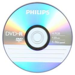 PHILIPS 飛利浦 16X DVD-R 燒錄片 10入布丁筒