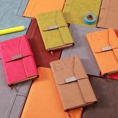 時尚信封式商務筆記本辦公用品小隨身學生日記本創意記事本子梗豆物語