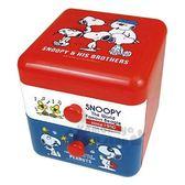〔小禮堂〕史努比 桌上型塑膠雙抽收納盒《紅白.朋友》置物盒.抽屜盒.飾品盒 4979274-03322
