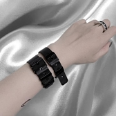 小雨家暗黑風表帶手鐲手環鈦鋼個性表帶style朋克裝飾飾品手練   ATF  極有家