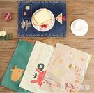 日式餐桌墊 防滑防燙隔熱簡約桌墊家用歐式卡通兒童布藝西餐墊 QX8806 『愛尚生活館』