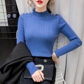 新品特價 薄款毛衣打底衫女長袖秋冬新款氣質修身內搭半高領針織衫上衣