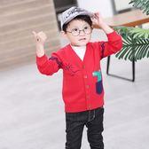 童裝毛衣開襟男童v領兒童線衣寶寶針織衫外套 寶媽優品