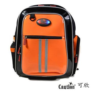 兒童 學生 書包(護脊) Caution可欣 1016 陽光橘
