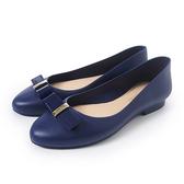 Petite Jolie 可愛小結飾果凍娃娃鞋-靛藍