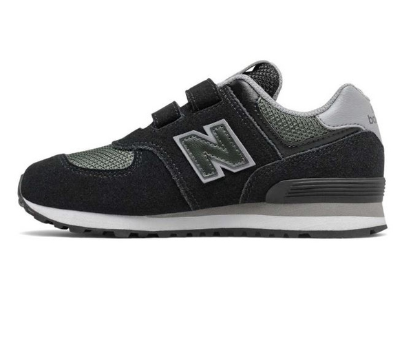 New Balance 4-7歲童鞋黑綠色運動鞋 -NO.YV574FNA