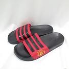 ADIDAS ADILETTE SHOWER 男款 拖鞋 FW7072 大尺碼 黑紅【iSport愛運動】