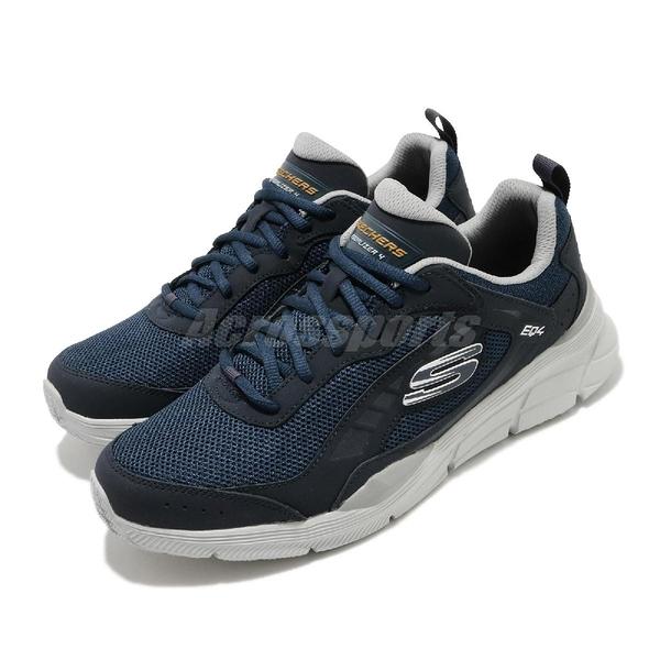 Skechers 慢跑鞋 Equalizer 4.0-Restrike 藍 灰 男鞋 路跑 運動鞋【ACS】 232024NVGY