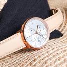 ALBA / VD77-X007J.A3A020X1 / 極致完美 藍寶石水晶玻璃 日本機芯 真皮手錶 銀x玫瑰金框x膚 38mm