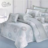 YuDo優多【浪漫絲情-灰】精梳棉雙人鋪棉兩用被薄床包組四件式-台灣製造