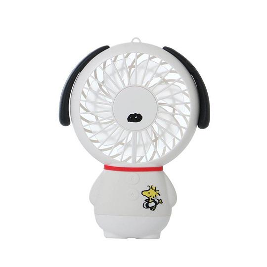 小禮堂 史努比 手持電風扇 隨身風扇 USB電風扇 附腕繩 (白衣 站姿) 4935124-52838