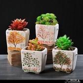 花盆-多肉花盆粗陶素燒復古小號盆栽植物透氣陶瓷 提拉米蘇