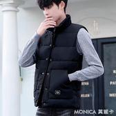 馬甲男秋冬季韓版潮流帥氣情侶款棉衣坎肩寬鬆大碼羽絨棉馬夾外套   美斯特精品