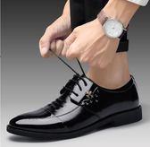 男鞋夏季潮鞋新款休閒皮鞋男士英倫韓版百搭黑色潮流透氣青年鞋子『新佰數位屋』