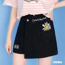 ROCKCOCO 微笑小花不對稱褲裙