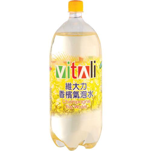 維大力香檳汽水寶特瓶2000ml【愛買】