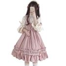 日系春秋少女軟妹洛麗塔Lolita復古洋裝人形師JSK吊帶高腰連身裙