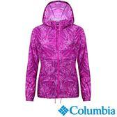 Columbia 女 連帽風衣 UKR30130UN 紫色花紋 【GO WILD】