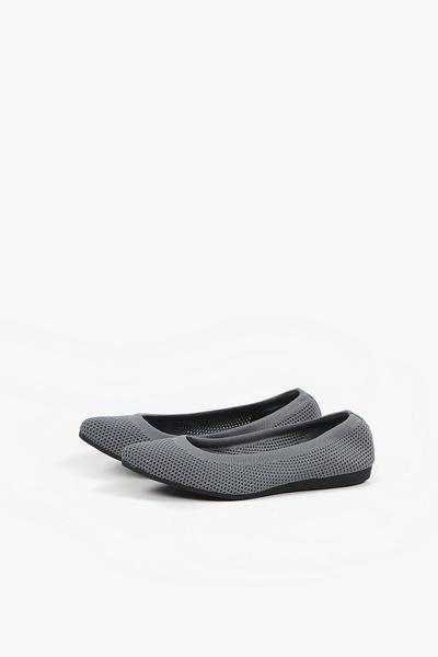 ALL BLACK   網眼芭蕾舞鞋(灰色)