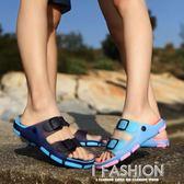 夏季一字拖鞋男士涼拖鞋韓版45涼鞋46防滑沙灘鞋大碼托鞋情侶拖鞋·Ifashion