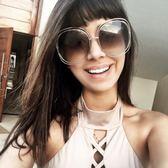 Chloe墨鏡 簍空金屬大框款 CE126S 784 #金-棕鏡片