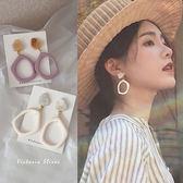 韓國優雅氣質 幾何鏤空 耳環耳夾可選-維多利亞190429
