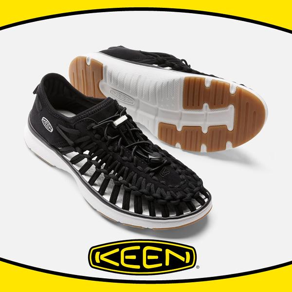 【KEEN 美國 女 編繩涼鞋《 黑》】1017055/編織涼鞋/涼鞋/休閒涼鞋/水陸兩用鞋