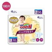 日本大王GOO.N   日本珍珠棉柔版黏貼型紙尿褲XL*180片(箱)【愛買】