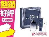 COACH 時尚經典 男性淡香水 禮盒(100ml+沐浴100ml+7.5ml)◐香水綁馬尾◐