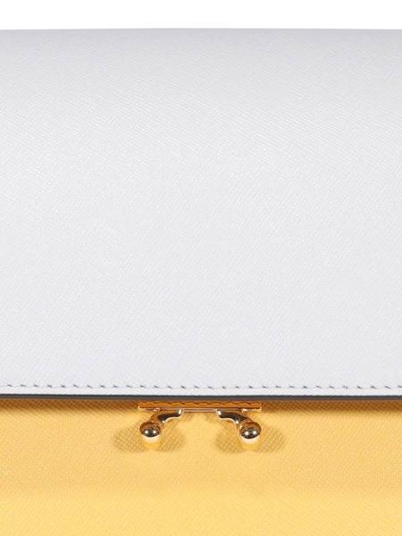 ■專櫃77折■ 全新真品■Marni 4 隔層 Trunk 風琴斜背包 耐刮小牛皮 黃色/棕色/淡藍色