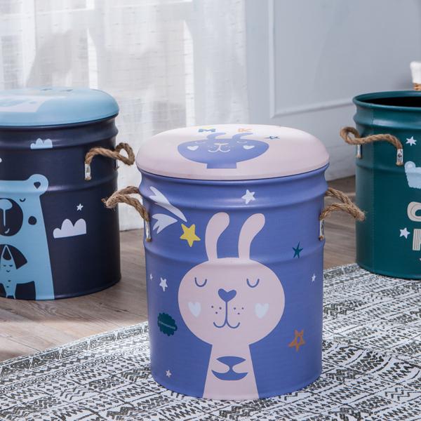 QQ鐵桶收納椅-俏皮兔-生活工場