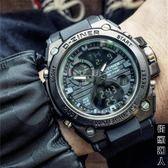 手錶電子錶時尚潮流男士運動雙顯跑步計時夜光錶男學生錶 igo父親節禮物