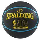 SPALDING NBA HIGHLIGHT 藍球  五芒星 柔軟 七號 室外 黑  藍 黃 【運動世界】 SPA83198