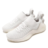 adidas 訓練鞋 AlphaBOUNCE Trainer W 白 全白 女鞋 運動鞋 襪套式 【PUMP306】 D96450