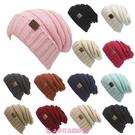 毛帽 熱賣歐美秋冬CC貼標毛線針織帽套頭帽戶外保暖帽子 - 小衣里大購物