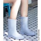 雨鞋女士水鞋時尚外穿韓國可愛中筒膠鞋防水...
