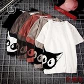 日系小貓印花短袖T恤男加大潮牌半袖上衣【聚寶屋】