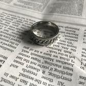 戒指大熊小殿 韓國流行男戒指東大門ins韓版鈦鋼情侶錬條戒指飾品潮流 新年禮物