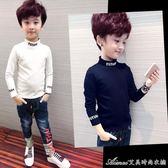 秋裝男童長袖t恤新款童裝上衣男孩秋打底衫中大童兒童體恤 艾美時尚衣櫥