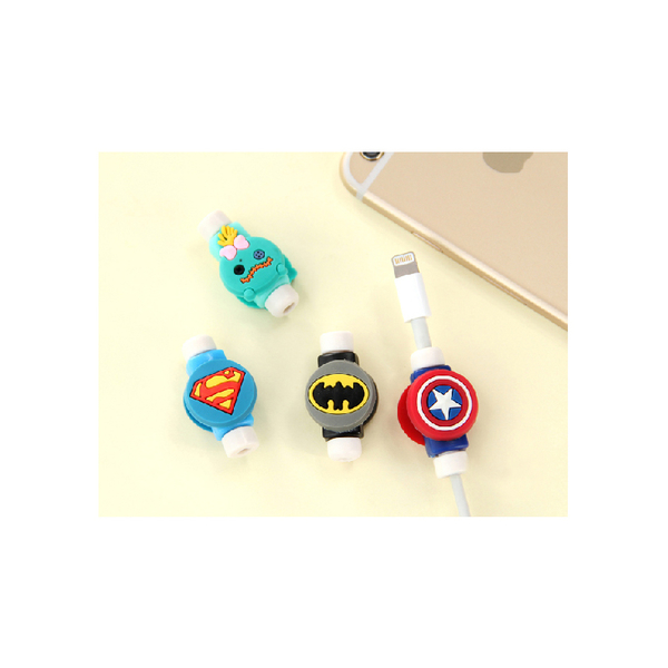 i線套 Apple iPhone 7 plus iPhoneX 8 6s USB傳輸線 充電線 保護套 原廠耳機 iPad Pro 美國隊長超人蝙蝠俠