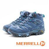 MERRELL(女) GORE-TEX 健走登山鞋 耐磨抗菌 防水  防臭緩震-藍(另有橄欖綠)