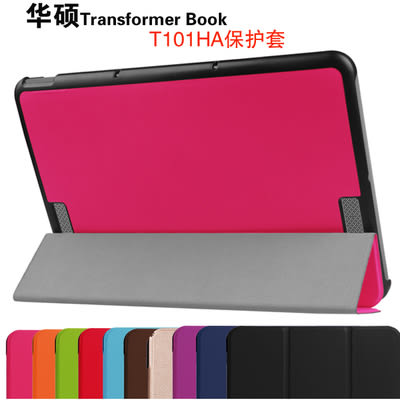 King*Shop--華碩Transformer Book T101HA平板保護套 10.1寸皮套超薄支架外殼