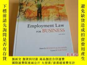 二手書博民逛書店EMPLOYMENT罕見LAW for BUSINESS (Fo