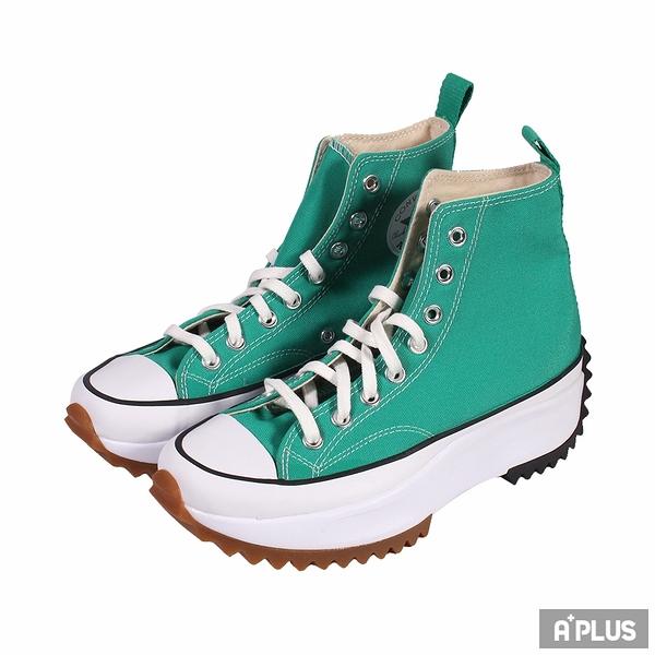 CONVERS 女帆布鞋(高統) RUN STAR HIKE HI COURT GREEN/WHITE/GUM 厚底 舒適 簡約 增高 綠-170441C