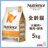 Nutrience紐崔斯『 無穀養生貓 (火雞肉+雞肉+鯡魚)』5kg【搭嘴購】