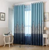 窗簾/地中海城堡成品隔熱短簾全遮光遮陽布料